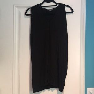 Vince Black Jersey Tunic Top